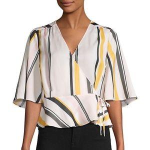 Stripe Kimono Wrap Top